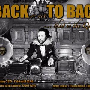 Back to Back #5 @ Sof's Bar - 26 Janvier 2013