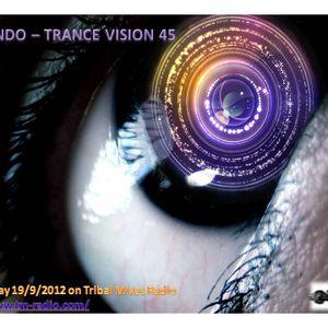DJ Mando - Trance Vision Episode 45 on TM Radio - 19.9.2012