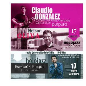Audio HoloJazz. Claudio González, Nelson Oliva, Javier Barría.