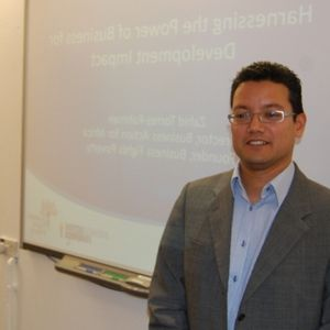 Zahid Torres seminar at IDS on 'Business and Development'.