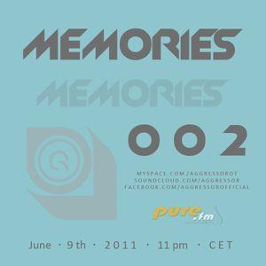 Aggressor  - Memories 002 [June 9th 2011]  on Pure FM
