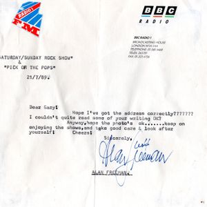 Alan Freeman Pick of the Pops 19th March 1989 BBC Radio One