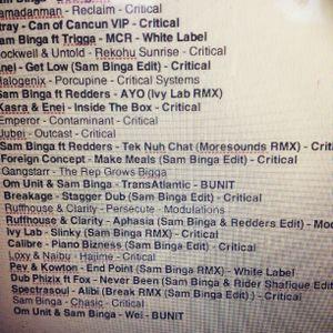 Sam Binga's Critical Music DNB60 for Friction on BBC Radio 1
