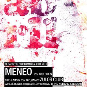 Frann Delice@ El Barbero (pre-party zulos club 09-04-2011)