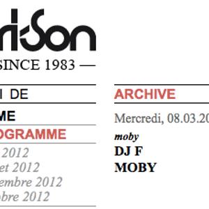 Moby live - Fri-Son 08.03.2000 - Couleur 3