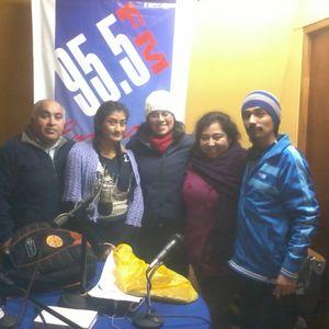 Entrevistando a Cecilia Bravo Alcapan y a Debora Quila Ñamcü.