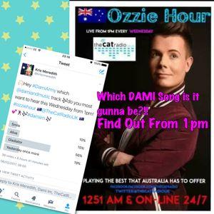OZZIE HOUR-- The Cat radio UK. 08/02/2017- All the best Ozzie tracks + Dami Im Twitter Poll