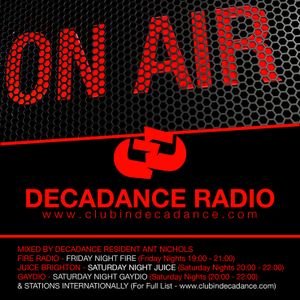 DECADANCE RADIO - SAT 31 JANUARY 2015