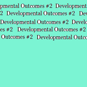 Developmental Outcomes 2