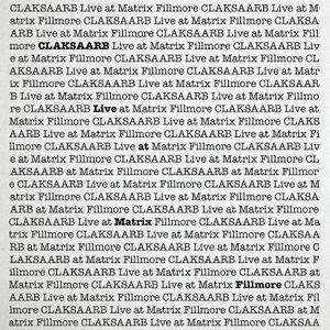 CLAKSAARB Live at Matrix Fillmore 6-8-14