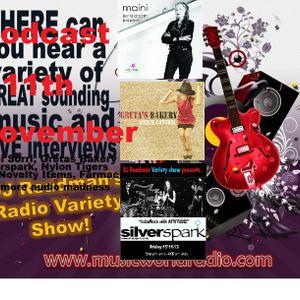 Dj Readmans Variety Show: Maini Sorri live interview, Silverspark, Nylon tigers and more