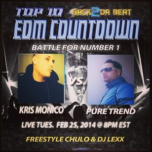 Top 10 EDM Countdown Show with Freestyle Chulo & DJ Lexx February 25, 2014