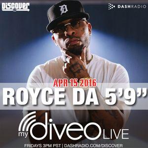 Royce Da 5'9 mydiveo LIVE on Dash Radio
