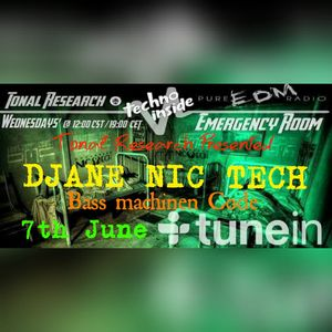 Tonal Research Presented DJANE NIC TECH @ Emergency Room (7 June 2017)