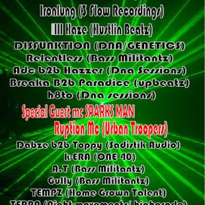 UP BEATZ PART 3 FRIDAY 15TH MARCH @LONG BAR LEICESTER HEADLINER IRONLUNG,SPARKS,RUPTION PROMO MIX