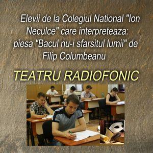 """Elevii de la Colegiul National """"Ion Neculce"""" care interpreteaza piesa """"Bacul nu-i sfarsitul lumii"""""""