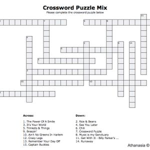Crossword Puzzle mix
