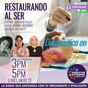 RESTAURANDO AL SER-05-13-19-DIAGNOSTICO EN LAS 5 LEYES BIOLOGICAS