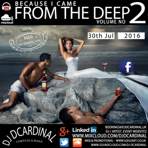 Because I Came From The Deep Volume 2 - DJ DCardinal Compiled Mix Session