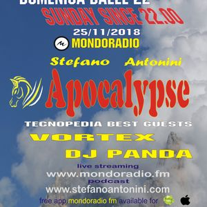 Apocalypse radioshow on Mondoradio 25/11/2018 episode#76 Stefano Antonini