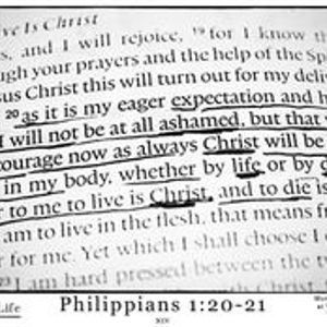 Philippians 1-18b-20 - Christ-Honoring Confidence for the Future