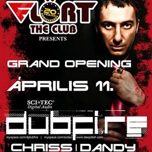 Dandy live at Flört Grand Opening - Warm Up to Dubfire 2009.04.11.