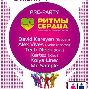 "Festival Prepary ""Ритмы Сердца""_live dj set by dj tech-neek & dj Kartez feat David Kareyan"
