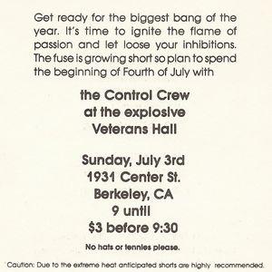 Control Crew - Live - 7-3-1983