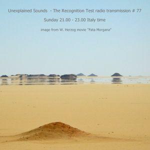Unexplained Sounds - The Recognition Test # 77