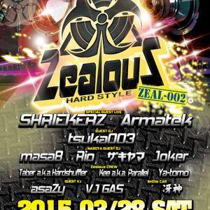 2015.3.28 Zealouz 002 Dedicate to Shuffler HARDSTYLE Mix