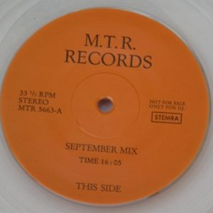M.T.R. Records - (Side A) September Mix