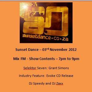 Sunset Dance 2012 11 03 - MixFM - Podcast 2 Hours