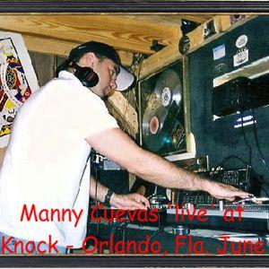 Manny Cuevas 'live' at Knock Knock - Oralndo, Florida - June 1998'