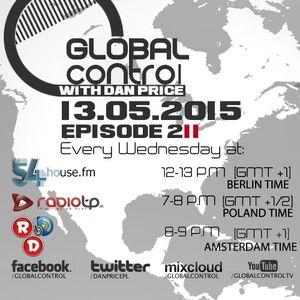 Dan Price - Global Control Episode 211 (13.05.15)