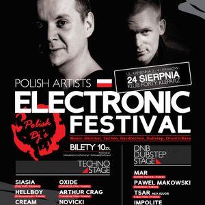 Freejay live @ Electronic Festival Forty Kleparz 24.08.2012 Kraków