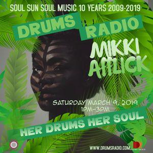 Mikki Afflick on Drums Radio MARCH 9, 2019