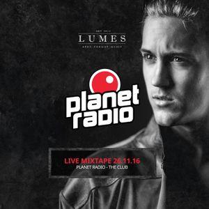 """Planet Radio """"The Club"""" 26-11-2016"""