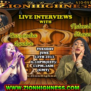CASSANDRA LONDON LIVE INTERVIEW WITH DJ JAMMY ON ZIONHIGHNESS RADIO 061317
