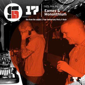 Eames b2b Monolithium live @ Hush