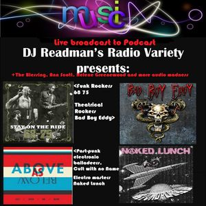 DJ Readman Variety Show: 68 75, Bad Boy Eddy, Naked Lunch, Cult with no Name and more