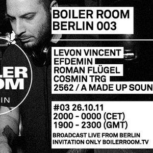 Roman Fluegel Live @ Boiler Room 003,Berlin (26.10.2011)