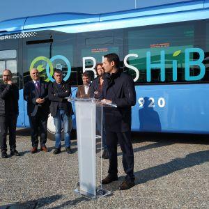 Presentació del primer bus urbà híbrid endollable de les comarques gironines 08.02.2019