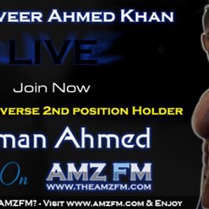 Salman Ahmed Bodybuilder (Pakistan) Live Interview with RJ Tanveer Ahmed Khan - AMZFM