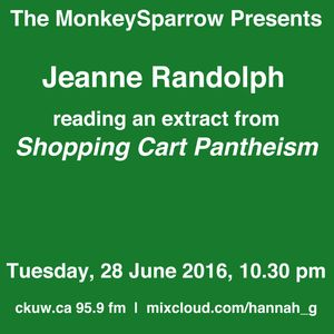 Jeanne Randolph reads an extract from her book, 'Shopping Cart Pantheon' 8 November 2016