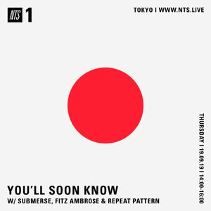 You'll Soon Know w/ Submerse, Fitz Ambro$e & Repeat Pattern - 19th September 2019