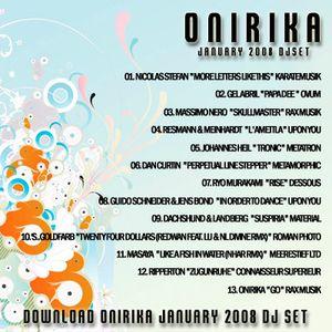 Onirika DJ Set January 2008