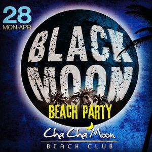 Naq warm up Black Moon Party at Cha Cha Moon Beach Club