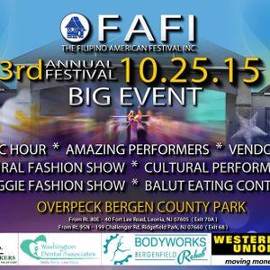 Filipino American Festival Inc - 3rd Annual Festival (10.25.15)