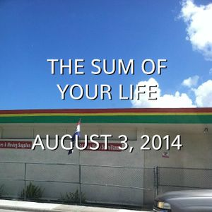 The Sum Of Your Life August 3, 2014