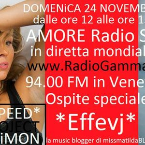 LORENZOSPEED* presents AMORE Radio Show Domenica 24 Novembre 2013 with MiSS MATiLDA BLOG aka effevj